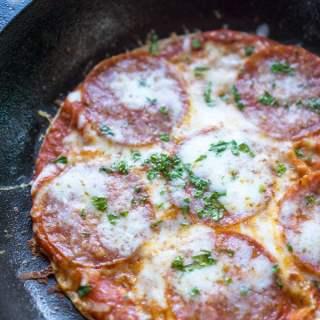 Skinny-ish Skillet Tortilla Pizza in 10 Minutes