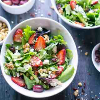 Strawberry Spring Salad with Lemon Dijon Vinaigrette