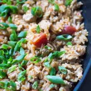 Turkey Taco Mexican Rice Skillet