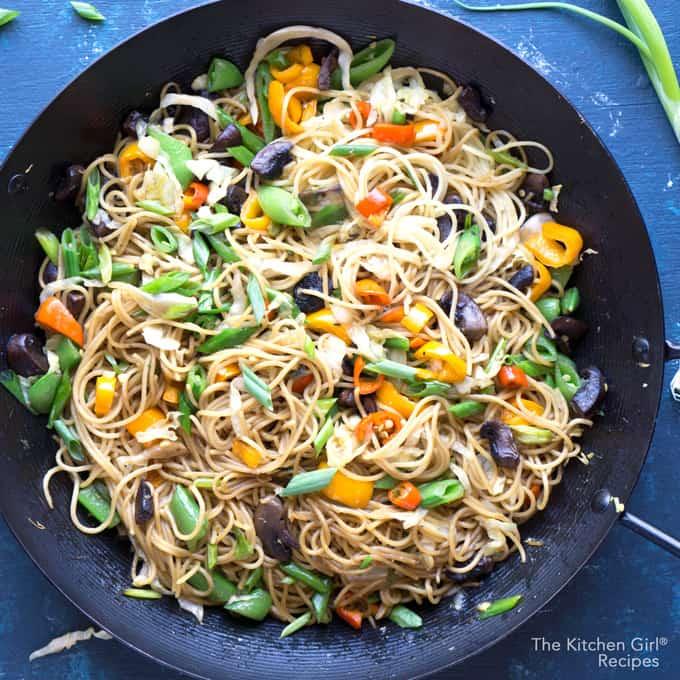 Vegan veggie chinese lo mein noodles easy restaurant copycat favorite vegan veggie chinese lo mein noodles forumfinder Gallery
