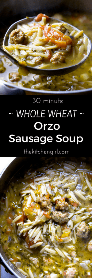 Comfort Soup In 30 Minutes Its Like Italian Wedding With Whole Grain Fiber