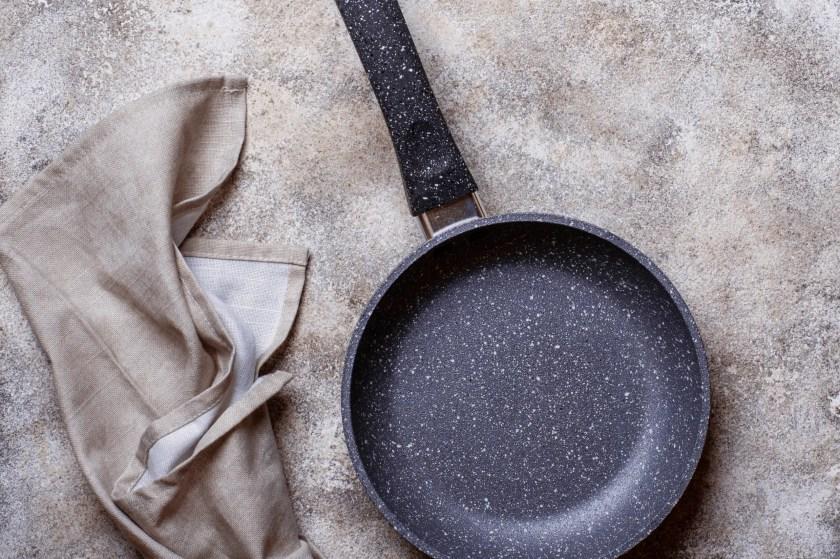 Black Granite Cookware on Marble