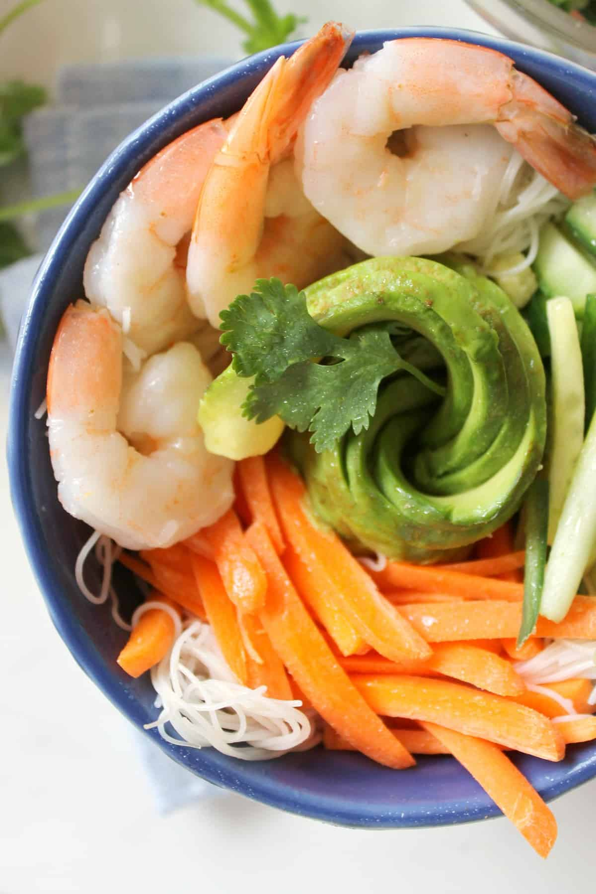 Shrimp Summer Roll Bowls