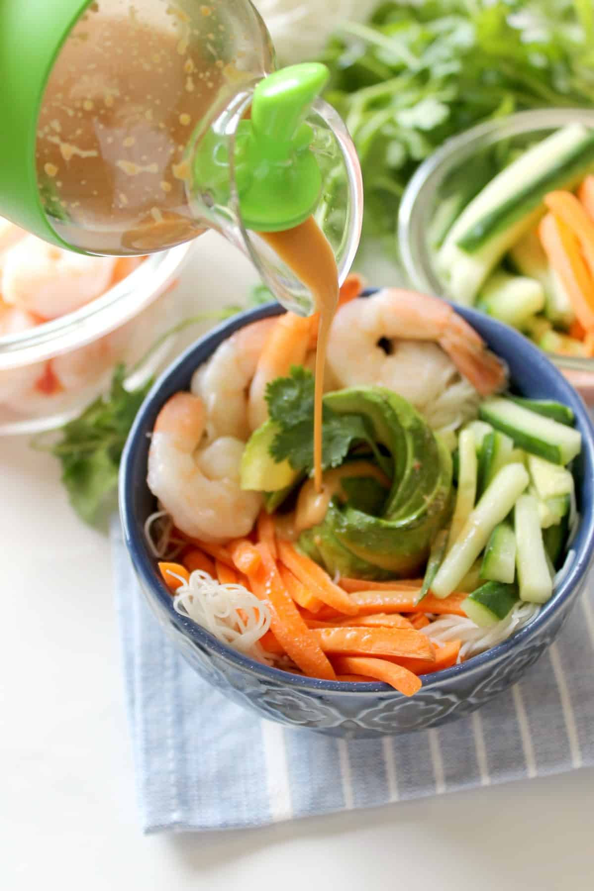Shrimp Summer Roll Bowl