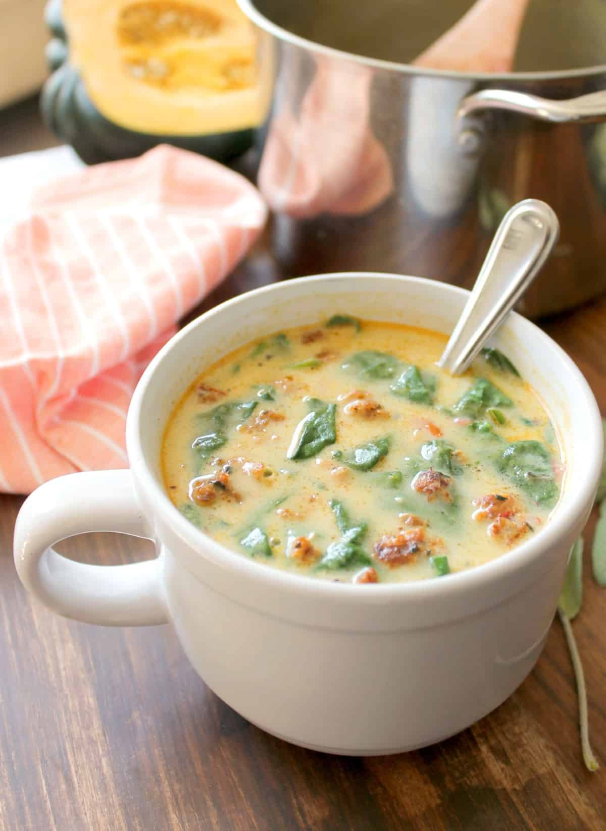 Sausage & Squash Soup