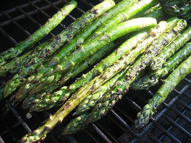 Be careful not to overcook the asparagus. It should be lightly browned, not charred.