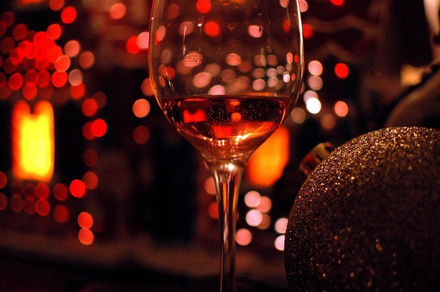 A glass of wine is a wonderful way to end a busy Christmas dinner.