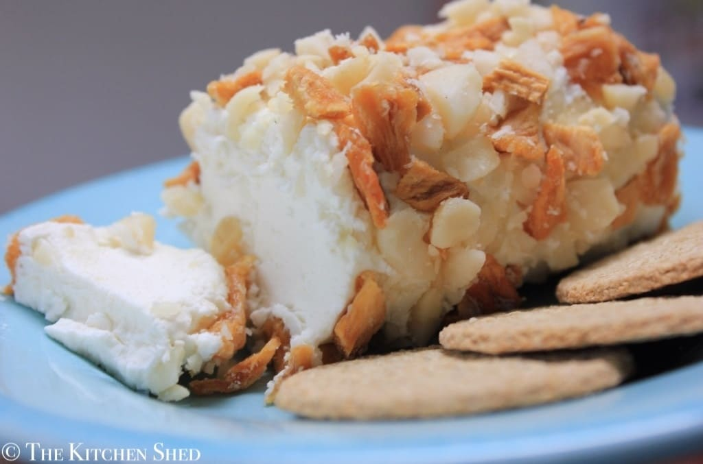 The Kitchen Shed - Clean Eating Pineapple & Macadamia Goats Cheese Log