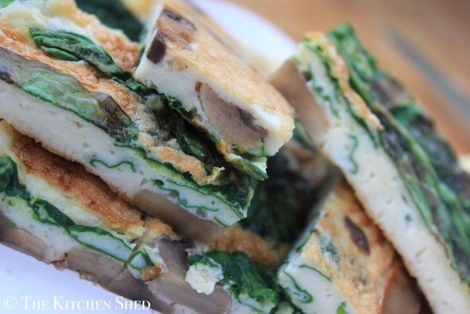Clean Eating Spinach and Mushroom Omelette