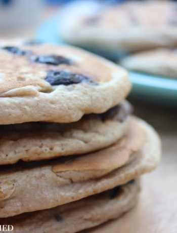 Clean Eating Blueberry Pancakes 3