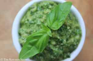 Clean Eating Kale, Walnut and Basil Pesto