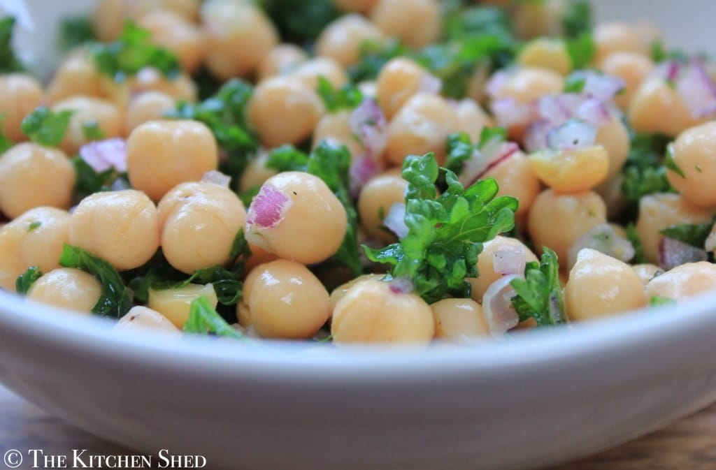 The Kitchen Shed - Clean Eating Lemony Chickpea Salad