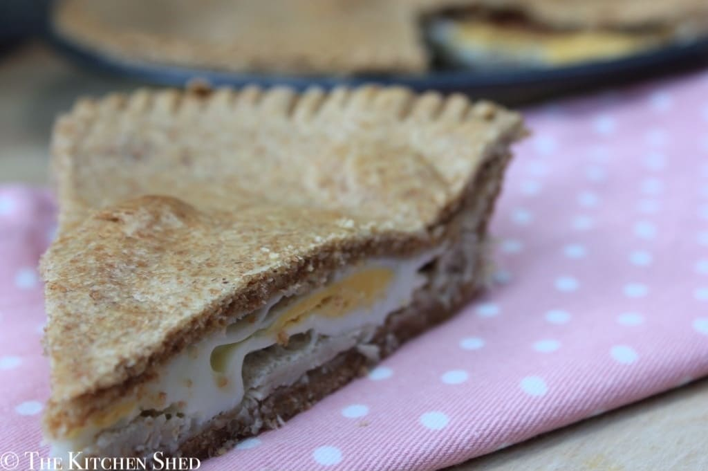 Clean Eating Egg and Bacon Pie - The Kitchen Shed