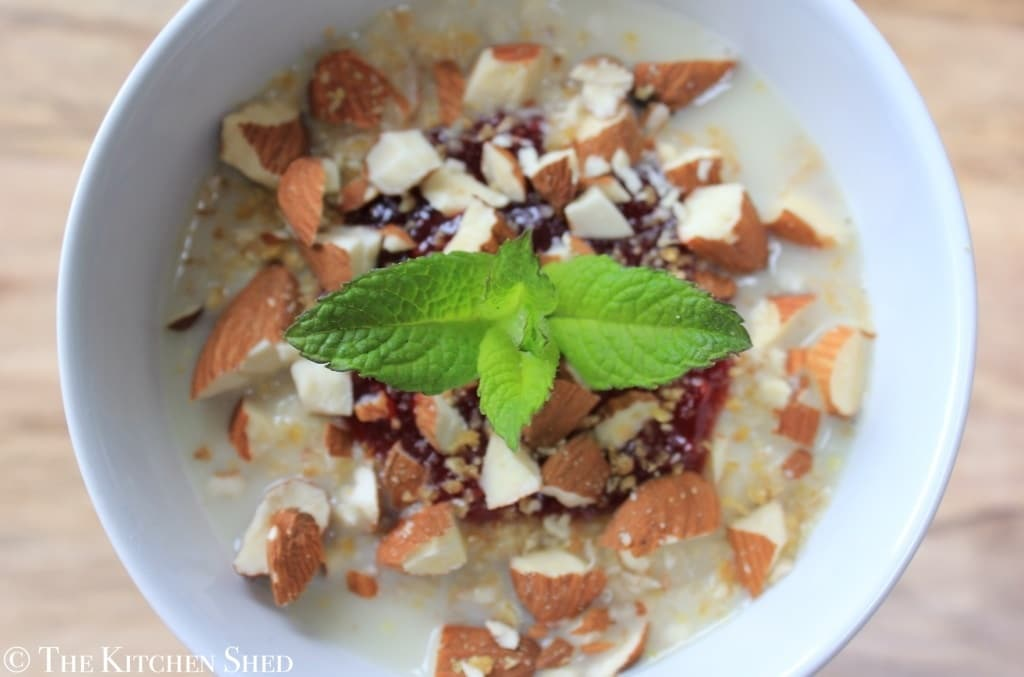 Clean Eating Raspberry Almond Porridge