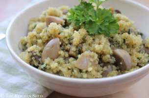 Clean Eating Garlic Mushroom & Spinach Quinoa