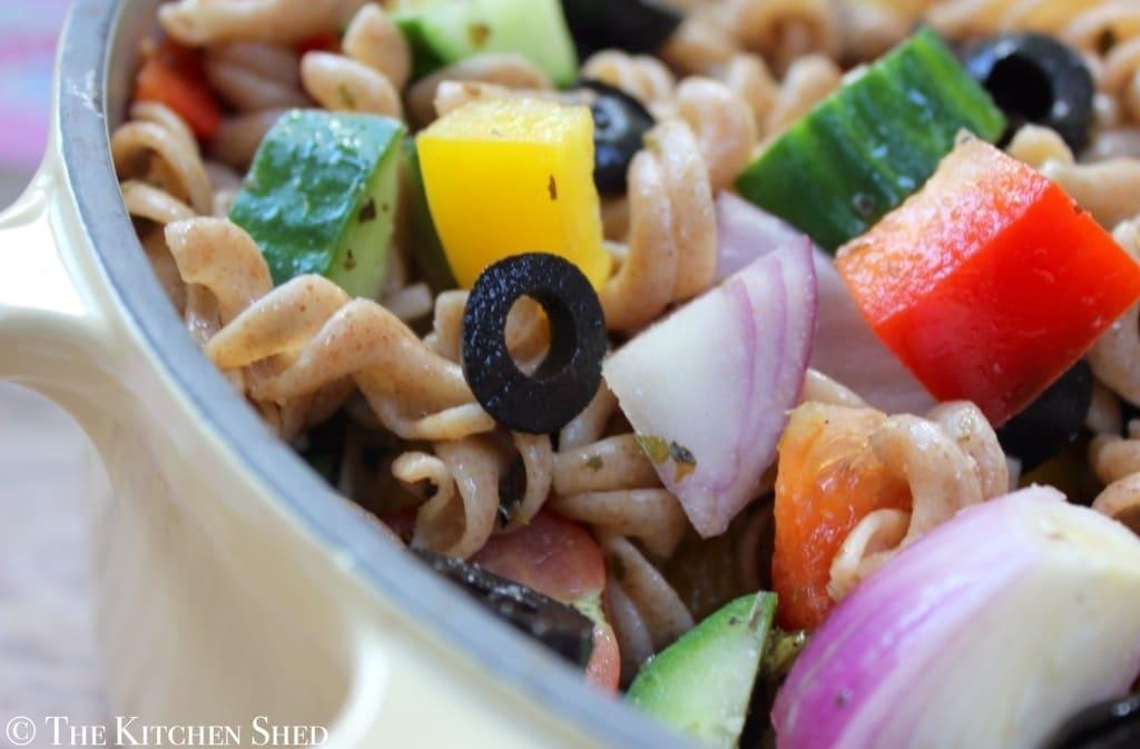 Clean Eating Italian Spelt Pasta Salad