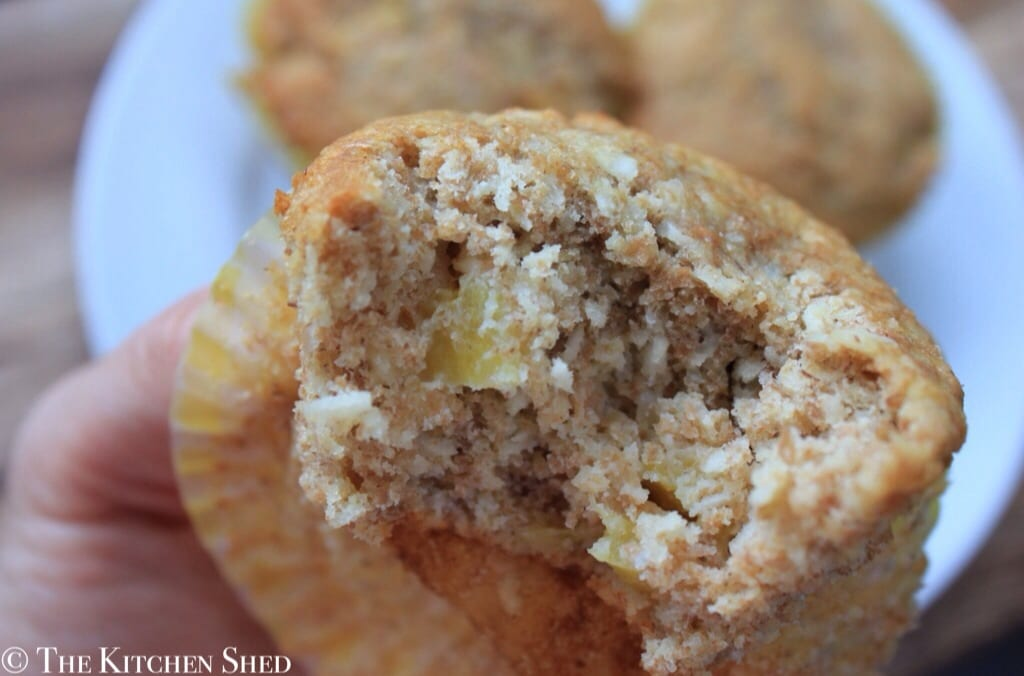 Clean Eating Pineapple Coconut Muffins