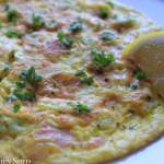 Clean Eating Salmon Spring Onion Omelette 1