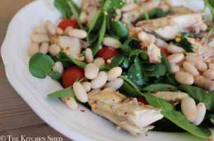 Clean Eating Mackerel White Bean Salad