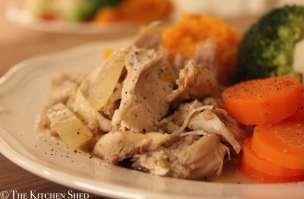 Clean Eating Slow Cooker Garlic Fennel Chicken