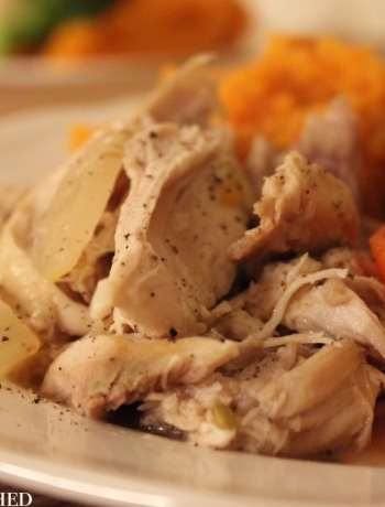 Clean Eating Slow Cooker Garlic Fennel Chicken 1