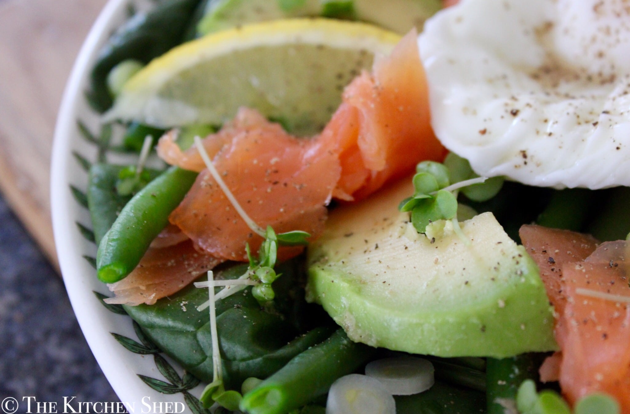 Clean Eating Salmon, Egg & Green Bean Salad