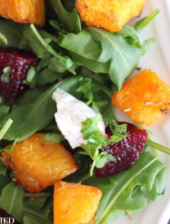 Clean Eating Butternut Squash, Goats Cheese & Beetroot Salad 2
