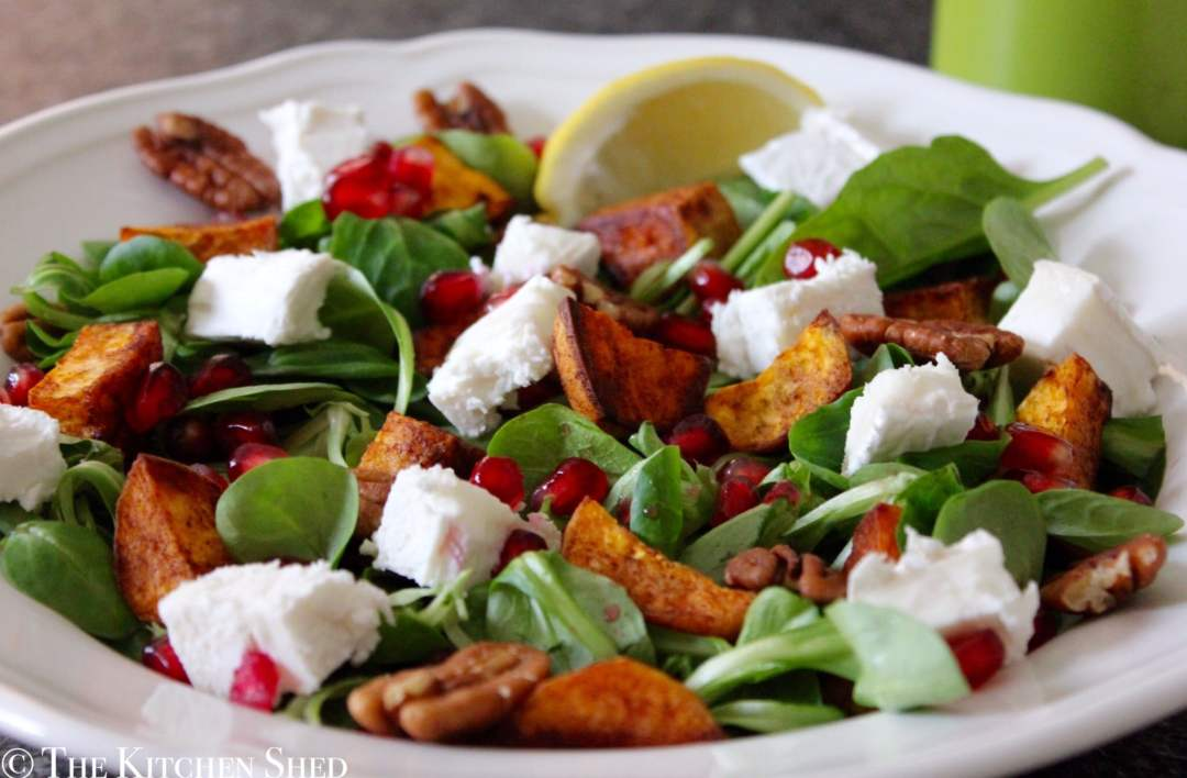 Clean Eating Cinnamon Spiced Sweet Potato Salad