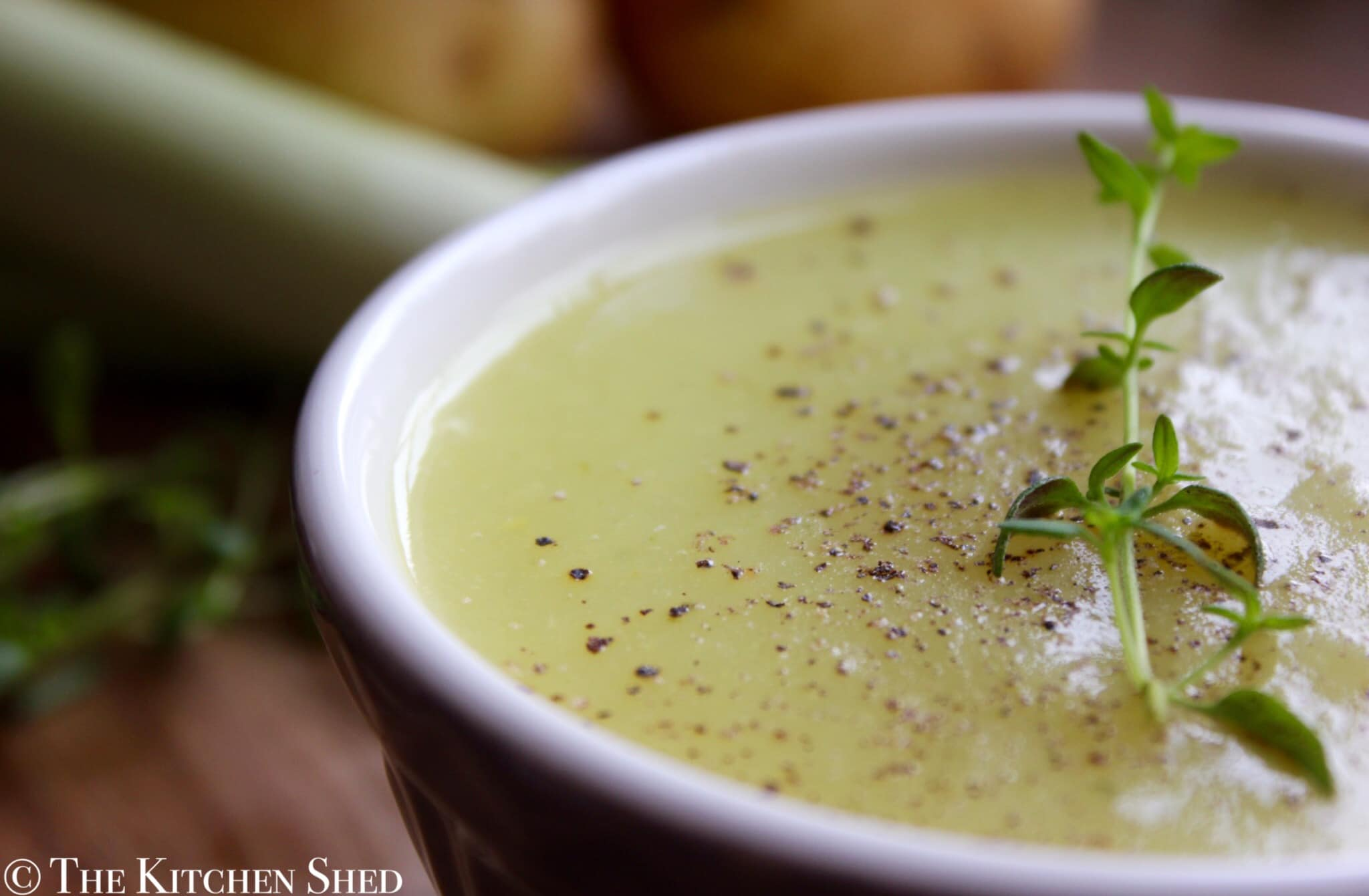 Clean Eating Leek & Potato Soup