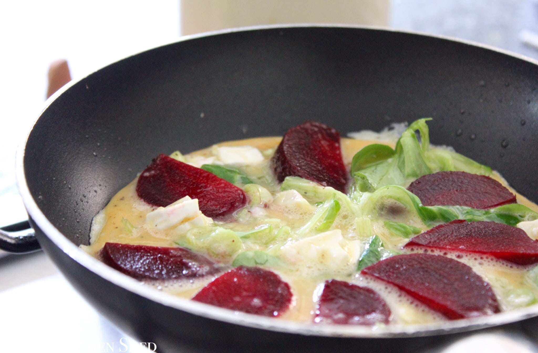 Clean Eating Beetroot & Goats Cheese Omelette