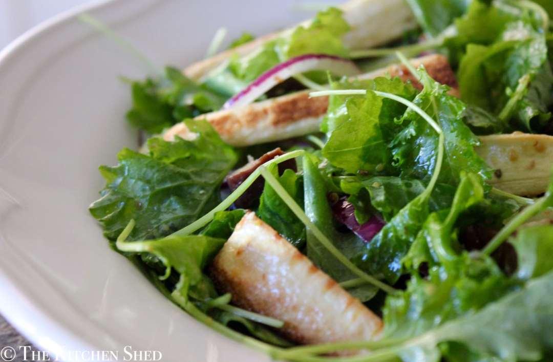 Clean Eating Baby Kale, Parsnip & Chestnut Salad