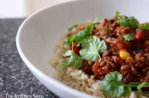 Clean Eating Organic Beef & Black Bean Chilli