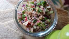 Clean Eating Rainbow Tuna Salad