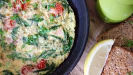 Clean Eating Smoked Salmon & Veggie Omelette