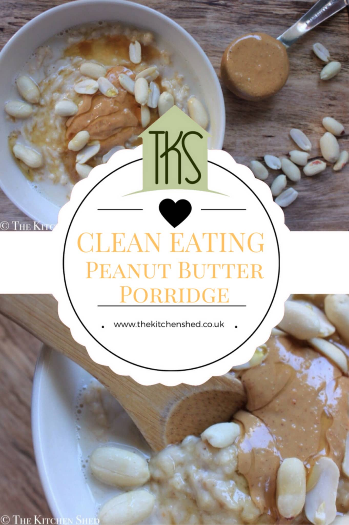 Clean eating peanut butter porridge the kitchen shed clean eating raspberry almond porridge forumfinder Images