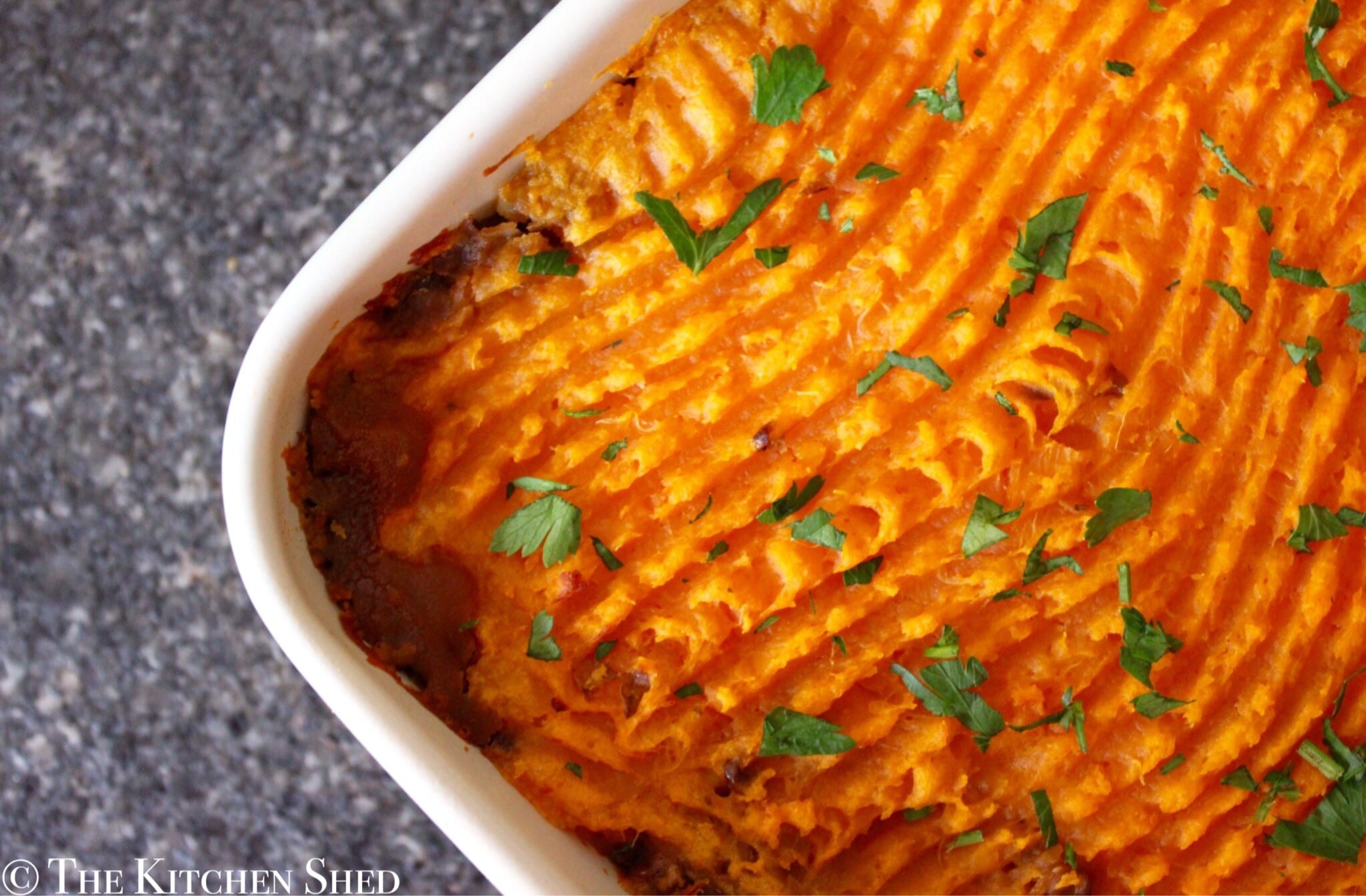 Clean eating lentil shepherds pie the kitchen shed this is a perfect meal to share with the family on meat free monday and a great way to enjoy some real vegetarian comfort food to save time whilst cooking forumfinder Choice Image