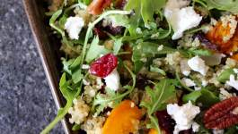 Clean Eating Roasted Pumpkin & Cranberry Pecan Quinoa