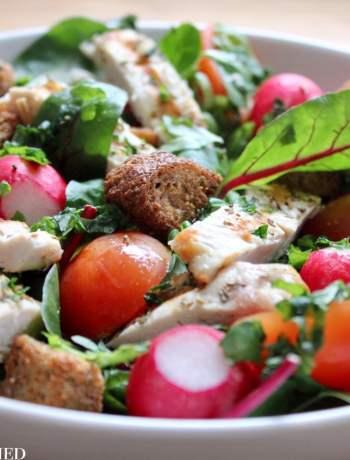 Clean Eating Chicken & Basil Salad