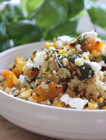 Roasted Corn & Veggie Quinoa