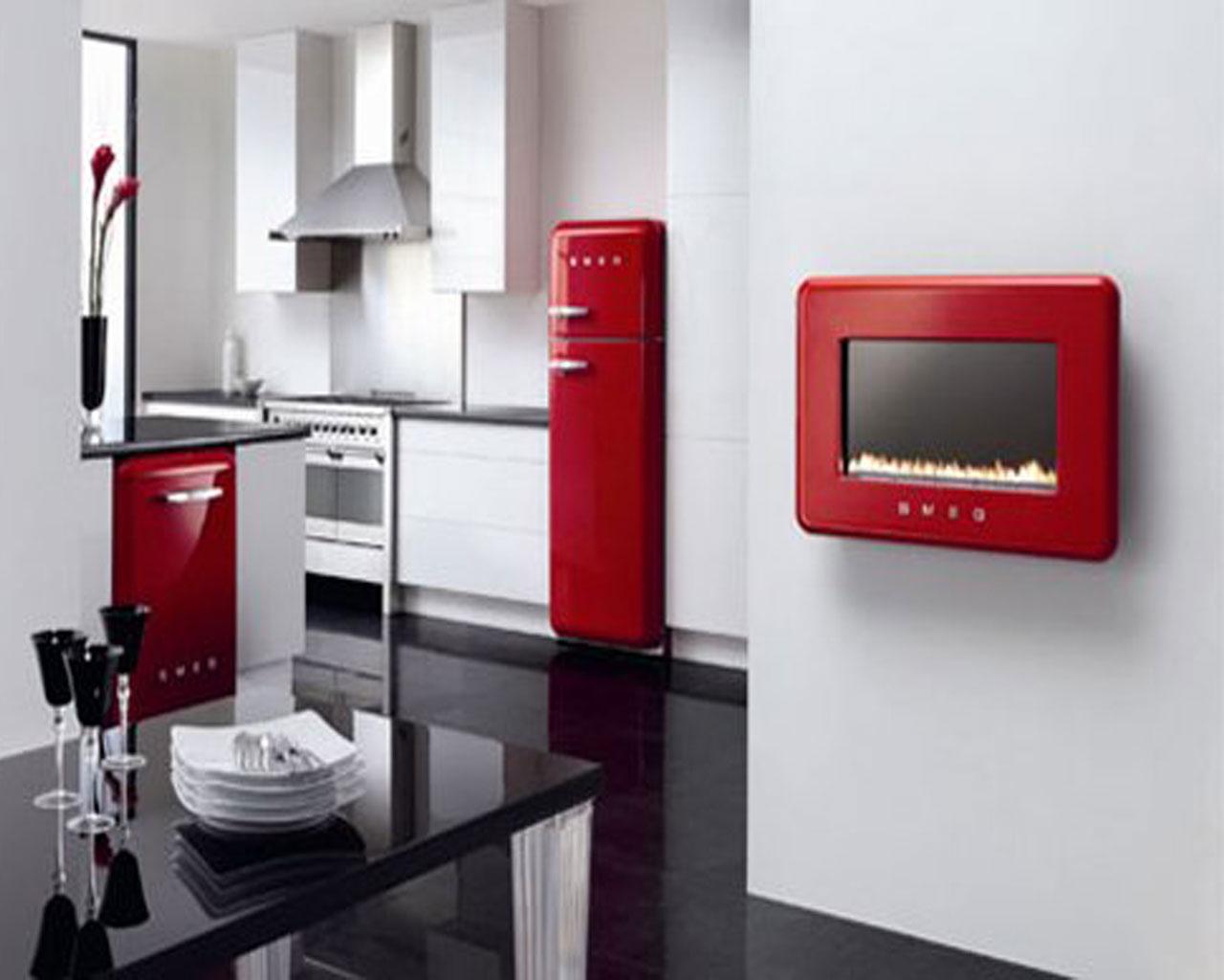 Red Kitchen Appliances Kitchen Supplies