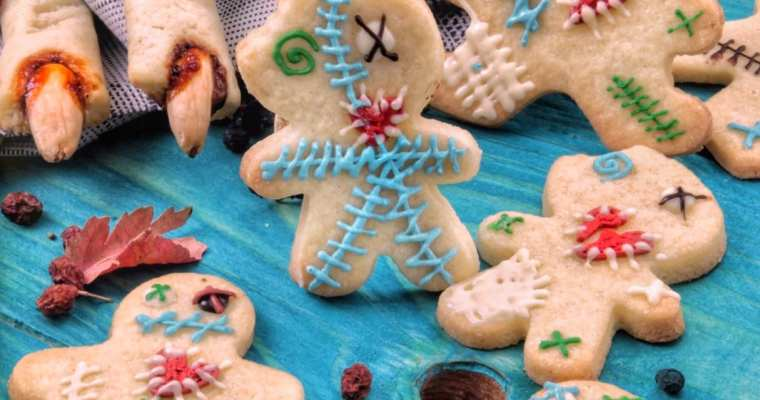 Pasta frolla chiara per i Biscotti di Halloween 🎃👻 in versione bambola voodoo e dita da strega