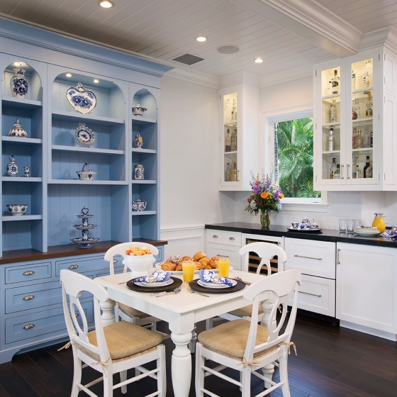 Periwinkle Blue Breakfast Hutch