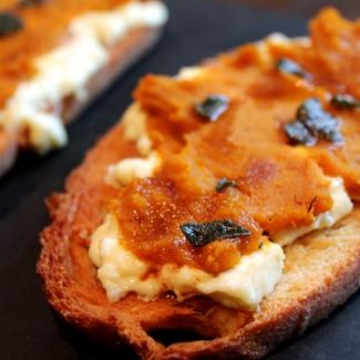Kabocha Squash and Ricotta Bruschetta