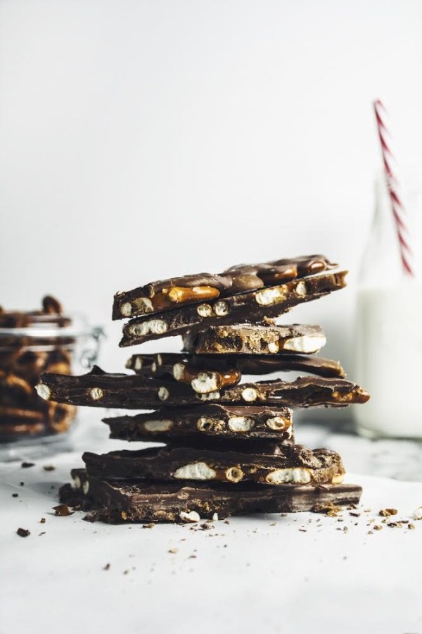 Chocolate Caramel Pretzel Bark