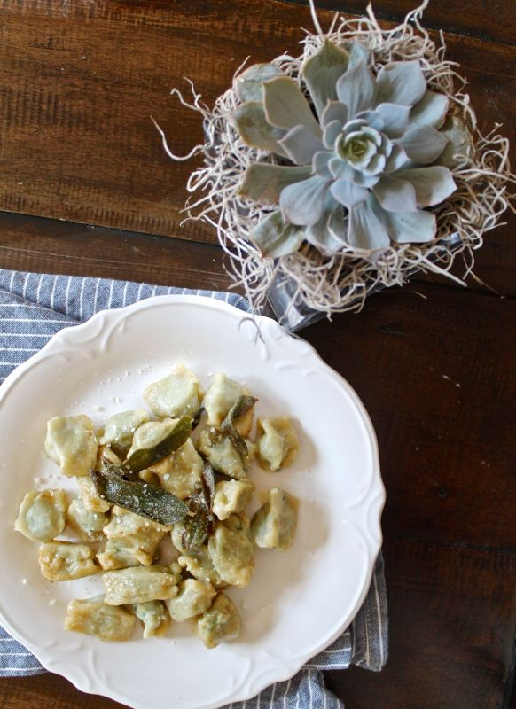Plin with Brown Butter and Fried Sage