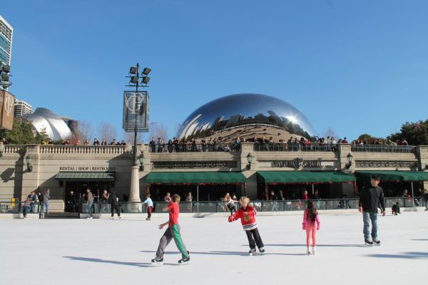 Skating in Millenium Park