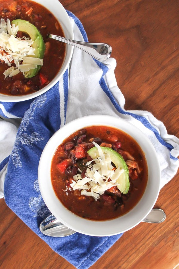 Crockpot Chicken Chili via The Kittchen