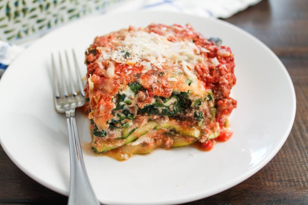Zucchini Lasagna with a Beefy Bolognese Sauce via The Kittchen