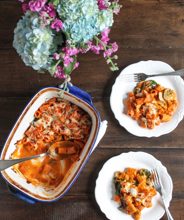 Veggie Pasta Bake made with Tomato Bisque-8