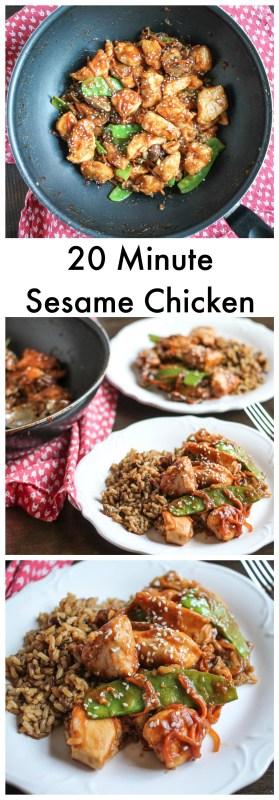 20 Minute Sesame Chicken Collage